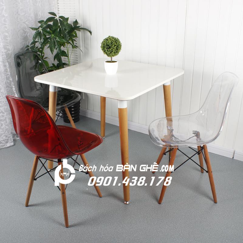 Bộ bàn ghế trong suốt tiếp khách cửa hàng, văn phòng